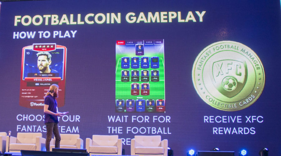 romania blockchain summit 2019 footballcoin fantasy blockchain game
